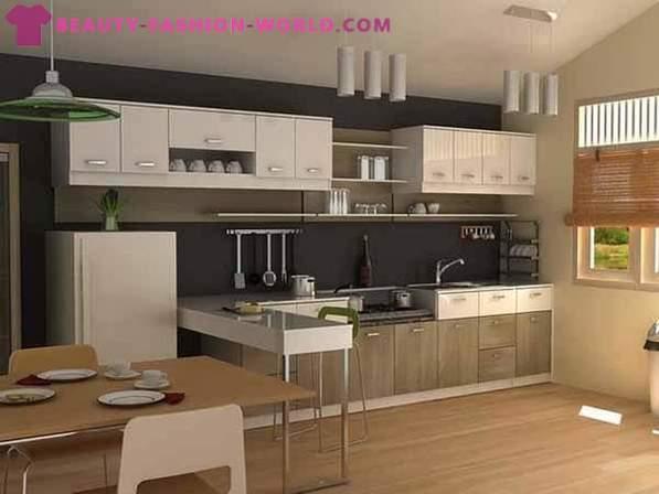 Interni moderni piccole cucine